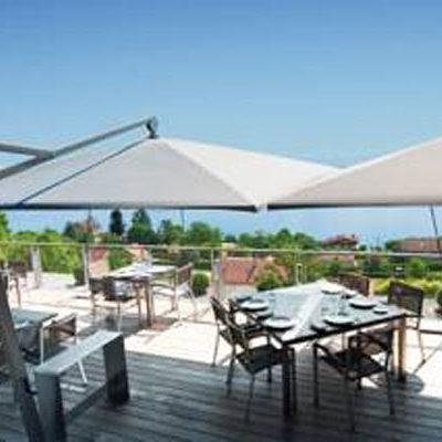 Großschirme Restaurant Terrasse